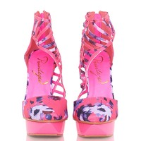 Privileged Take Me Out Platform Heels - Pink from Privileged Shoes at ShopRoxx.com