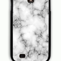 Samsung Galaxy S4 Case - Rubber (TPU) Cover with Marble Texture Rubber Case Design
