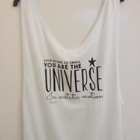 """Rumi Quote. """"Stop Acting So Small. You are the Universe in Ecstatic Motion"""" - Summer Tank Top Vest"""