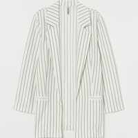 Jersey Jacket - White/black striped - | H&M US