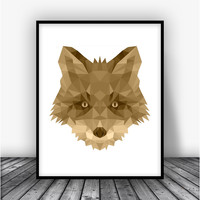 Fox, Brown Art Print Poster