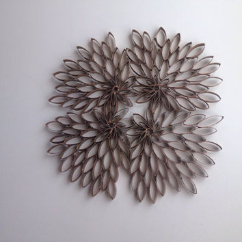 "Handmade Abstract Wall Art Sculpture ""LeafStruck"""
