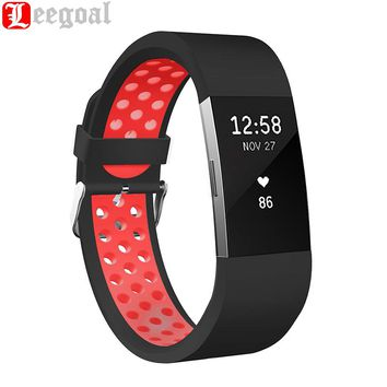 Wrist Strap Replacement Band For Fitbit Charge 2 Band Adjustable Soft Silicone Sports Band Strap Bracelet For Fitbit Charge 2