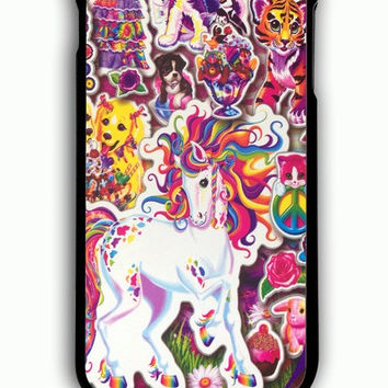iPhone 6 Plus Case - Hard (PC) Cover with 90s Lisa Frank Collage Plastic Case Design