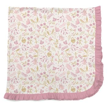 Holly Berry Ruffle Swaddle Blanket