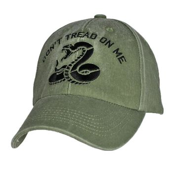 Don't Tread on Me Gadsden ODG- embroidered Low Profile Hat