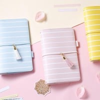 Lovedoki 2017 Spring Travelers Notebook Kawaii Personal Diary Macaron Planner dokibook Notebooks And Journals Stationery Store