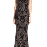 Jump Apparel Glitter High Neck Gown | Nordstrom