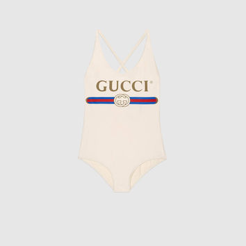 Gucci - Sparkling swimsuit with Gucci logo