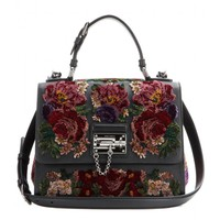dolce & gabbana - monica small embroidered leather tote