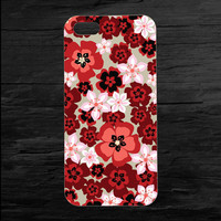 Bright Red Flowers Floral iPhone 4 and 5 Case