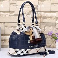 Burberry Women Leather Shoulder Bag Tote Handbag Satchel Crossbody