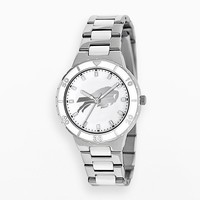 Game Time Pearl Series Buffalo Bills Silver Tone & White Ceramic Mother-of-Pearl Watch - NFL-PEA-BUF - Women (Grey)