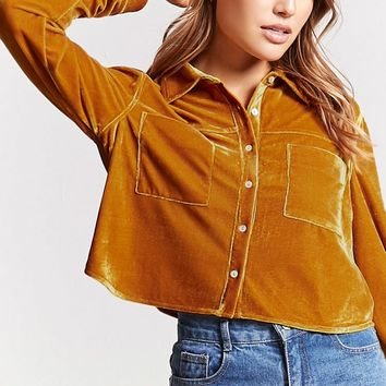 Contemporary Velvet Shirt