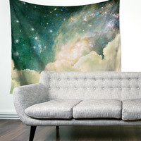 """Space Clouds"" Space Galaxy Wall Tapestry"