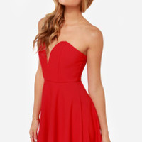LULUS Exclusive All Good Things Strapless Red Dress