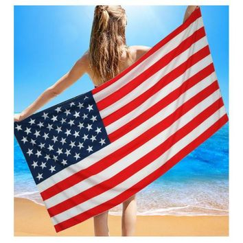 Patriotic Big Pool Towel