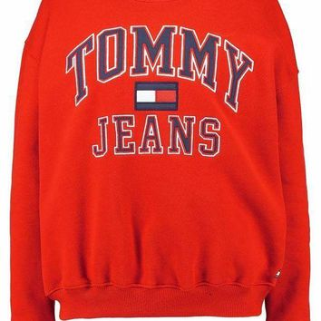 DCCKN6V Tommy Hilfiger Fashion Casual Long Sleeve Sport Top Sweater Pullover Sweatshirt G