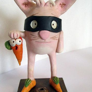 Masked Easter Bunny Carrot Catch New Edgy Easter Character Art By Janell Berryman Pumpkinseeds