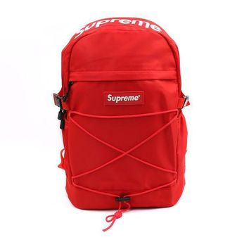 "Red ""street fashion supreme"" Stylish Backpack Travel Bag"
