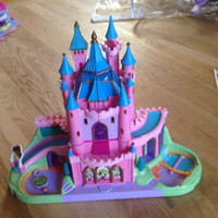 vintage polly pocket disney castle & people