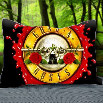 "Guns N Roses Logo Custom Pillow Case 30"" x 20"""