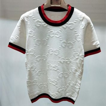 Gucci Women Fashion Casual Knitwear Shirt Top Tee-1