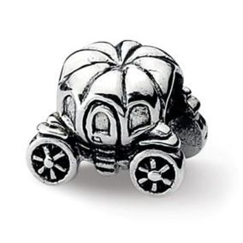 Sterling Silver Pumpkin Carriage Bead