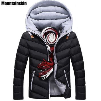 Moutainskin 4XL Winter Parkas Men's Jackets Casual Hooded Coats Men Outerwear Thick Cotton Jacket Male Brand Clothing SA152