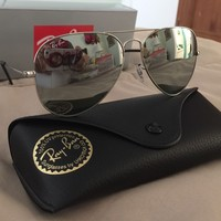 Cheap Ray-Ban RayBan Aviator Silver Mirror Lens Sunglasses RB3025 003/40 58MM NEW outlet
