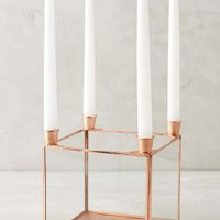 Copper Quadrille Candelabra by Anthropologie in Copper Size: One Size Candles