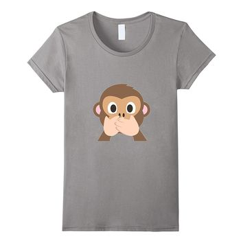 Monkey Emoji T-Shirt Speak No Evil