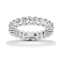 10.20 ct. wedding band sparkling diamonds White Gold new