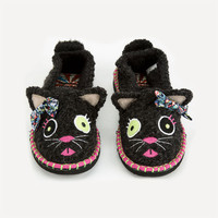 Tigerbear Republik Beastie Besties Womens Slippers Black Combo  In Sizes