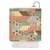 "Heidi Jennings ""Hodge Podge"" Vintage Texture Shower Curtain"