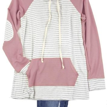 Kids Mauve Striped Pullover