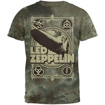 Led Zeppelin - Poster Tie Dye T-Shirt