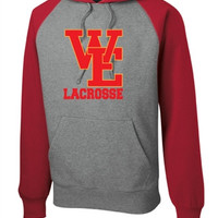 Williamsville East HS Mens Lacrosse Sport-Tek Raglan Colorblock Pullover Hooded Sweatshirt