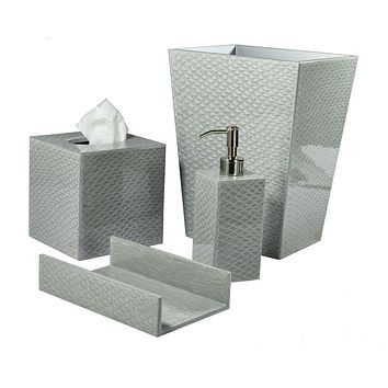 Pacific Fine Silver Bath Accessories by Mike + Ally