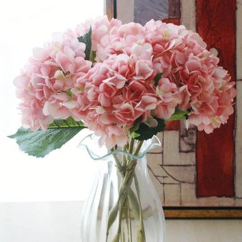 Fashion Silk Artificial Hydrangea Flower -Wedding Supplies Home Decoration For Those That Can't Grow Anything