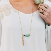 Tassel + Tooth Necklace