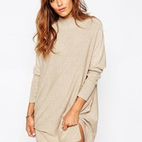 ASOS | ASOS Tunic Dress With High Neck In Cashmere Mix at ASOS