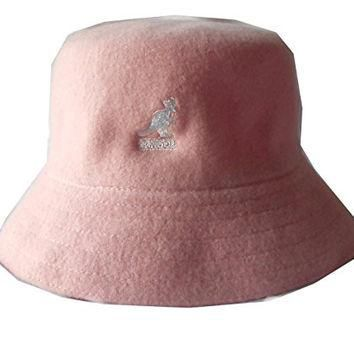 Kangol wool lahinch polo bucket fisherman hat cap (Small, Pink)