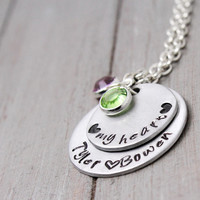 Mommy Necklace, Personalized Mother Necklace, Hand Stamped Mother Necklace, Mother Necklace Birthstone, Mother Necklace Child Names