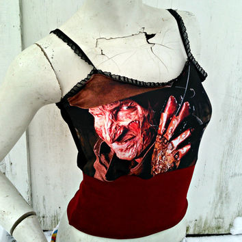 Freddy Krueger crop top Horror
