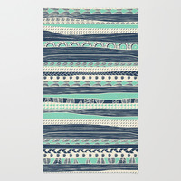 aztec color variation Area & Throw Rug by spinL