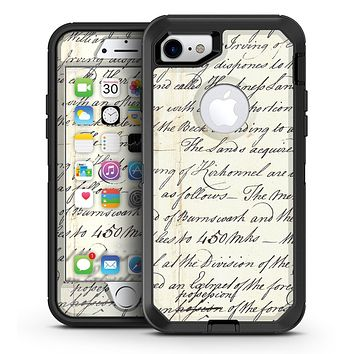 The 18th Century Script Pattern - iPhone 7 or 7 Plus OtterBox Defender Case Skin Decal Kit