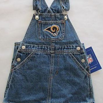 Los Angeles Rams Reebok Infant Jean Skirt Jumper Size 18 Months