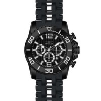 Invicta 20287 Men's Sea Spider Black IP Steel & Black Polyurethane Bracelet Chronograph Watch