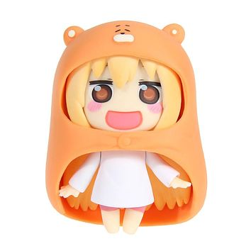 "Baby Toys 10cm Nendoroid Figure Umaru Anime Figurines Himouto Umaru-chan Doma 10cm/4"" New Collection Model Doll Kids Toys"